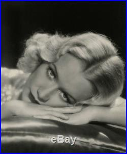 Exceptional 1934 Large Vintage Miriam Hopkins Art Deco Glamour Photograph Richee