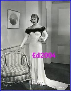 FAY WRAY Vintage Original Photo QUEEN OF SCREAMS Busty Off-Shoulder RARE Gown