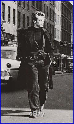 Famous Original 1950s Vintage James Dean on 53rd St. In NYC B&W Photo