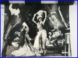 France Adolphe Sylvain TAHITI DANCE vintage 60' photo19.5X15.5 signed N negative