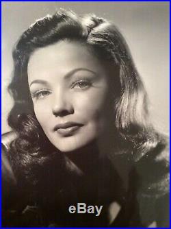 GENE TIERNEY Original Vintage Beautiful Glamour portrait 1940s