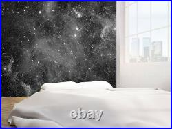 Galaxy stars abstract space black and white photo Wallpaper wall mural(46112002)