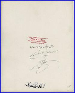 Geoffrey Holder Carmen de Lavallade Lrg Vintage Peter Basch Fine Art Photograph