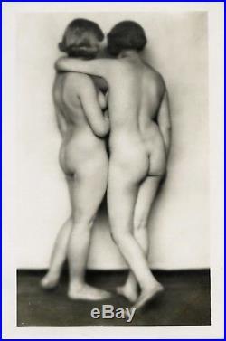 Germaine Krull Beautiful Vintage Photo Two Nude Women Lesbian 1924 Mint