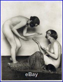 Germaine Krull Beautiful Vintage Photo Two Nude Women Lesbian 1924 Rare (2)