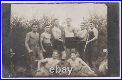 Group Guys Men Muscle Athlete Portrait Gay Int. Vintage 1920s Orig Photo 61119