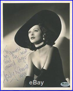 HEDY LAMARR 8x10 vintage B&W photo SIGNED (inscribed) SGC Authenticated actress