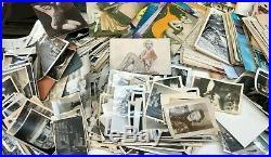 HUGE LOT Old Photos BW Vintage Photographs Snapshots Black White RPPC Negatives