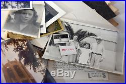 Huge Lot Antique Vintage B/W Unsorted Photos Negatives Letterheads Letters