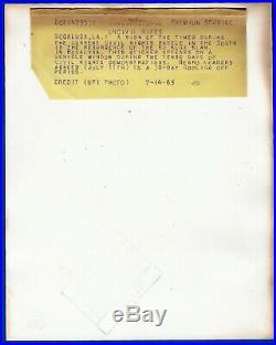 Iconic large vintage photo KU KLUX KLAN civil rights riots Bogalusa LA USA 1968