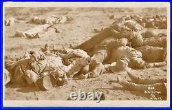 Iconic vintage photo by Horne soldiers Pancho Villa victory Ojinaga Mexico 1913