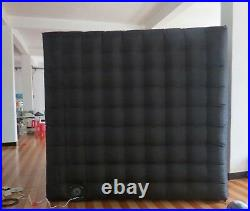 Inflatable Cube Photo Booth Air Tent Portable 2Door Photobooth withLED Lights LOGO