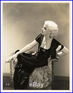 JEAN HARLOW (1931) Vntg orig 8x10 dbl wt sepia print still Pre-Code, pre-MGM FN
