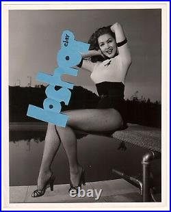 JULIE NEWMAR Vintage Original PHOTO Legs Leggy fishnet stocking Batman Cat Woman