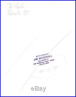 Jimi Hendrix Original Vintage Jim Marshall Photo