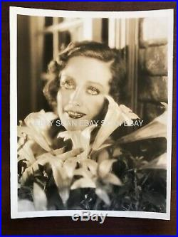 Joan Crawford Vintage Oversize Dbl Wt Portrait Photo by George Hurrell Stamped