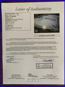 Joe Dimaggio Autographed Signed 11x14 Vintage B&W Photo JSA Cert Free Ship
