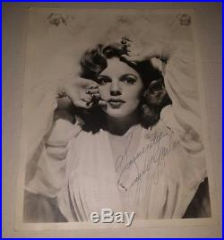 Judy Garland Vintage Photo Autographed Signed 40s she couldn't be more beautiful