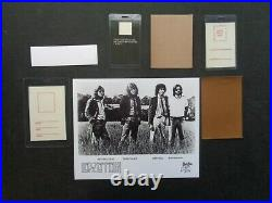 LED ZEPPELIN, B/W Promo Photo, 5 Original vintage Backstage passes, ticket
