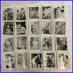 LOT OF 200 1940s VTG NUDE WOMAN NAKED PHOTO PHOTOGRAPH B&W BLACK WHITE RISQUÉ