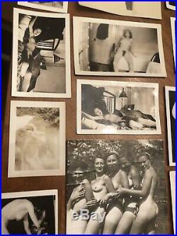 LOT Of 20 VINTAGE NUDE PHOTOS WOMAN Men WOMEN AMATEUR B&W RISQUÉ