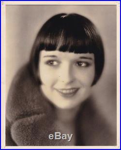 LOUISE BROOKS Beautiful ORIGINAL Vintage 1920s RICHEE Stamped Portrait Photo