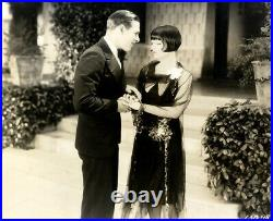 LOUISE BROOKS / ROLLED STOCKINGS (1927) 2 Vntg orig 8x10 photo with James Hall