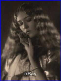 Large Format Vintage Melbourne Spurr Romantic Mary Pickford Photograph Signed
