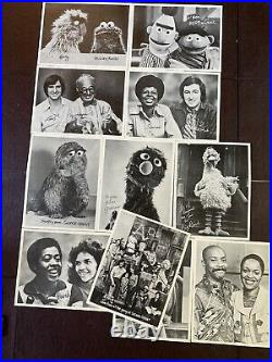 Large Lot Vintage B&W Signed Photos Sesame Street Original Cast & Muppets