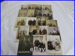 Lot Of 129 Various B&w Photographs And Cabinet Cards Of Couples- Vintage