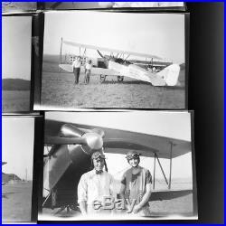 Lot Of 6 Vtg 1927 Original Photo Negatives Spokane WA Air Races Biplane