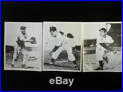 Lot of 24 Vintage 8x10 circa 1950's B&W Baseball Photos with17 HOFers-Ruth Gehrig