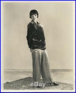 Louise Brooks Original Vintage Fashion Portrait Photo Stamped Gene Richee Snipe