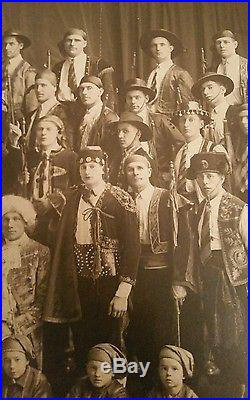 Lovely Dancing Troupe Gypsies Costume Antique Theater Old Photograph Vintage