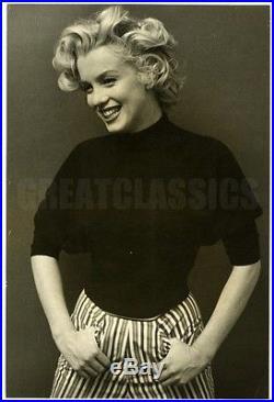 Marilyn Monroe 1952 Black Turtleneck Iconic Original Vintage Dblwt Photograph