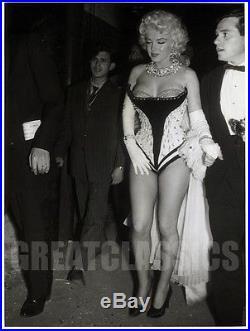 Marilyn Monroe Circus 1955 Super Sexy Fishnets Vintage Original Photograph