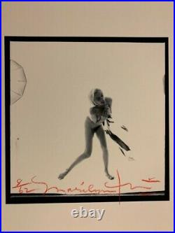 MARILYN MONROE NUDE ORIGINAL PHOTOGRAPH 1962 60s BERT STERN SIGNED AUTO DNA PSA