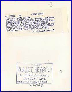 MARILYN MONROE, ROBERT MITCHUM (1953) Vtg orig 8x10 dbl wt UK still / at airport