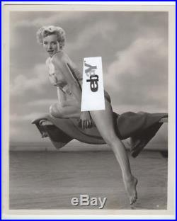 MARILYN MONROE Rare Swimsuit Pinup by Ernest Bachrach Stamped Vintage Original