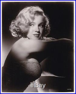 MARILYN MONROE Strapless Dress ORIGINAL Vintage 1950s Studio Portrait Photo