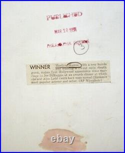 Marilyn Monroe 1954 Vintage Press Photo Alan Ladd Hollywood Awards Date Stamp AP