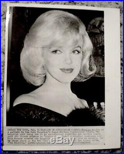 Marilyn Monroe 1961 Vintage Press Photo The Misfits Snipe Date AP Wirephoto