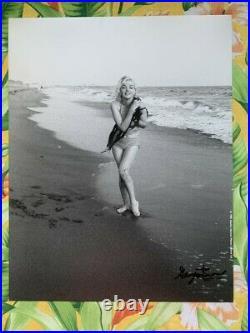 Marilyn Monroe Beach Signed George Barris 11X14 1945 Vintage Photo Norma Jean