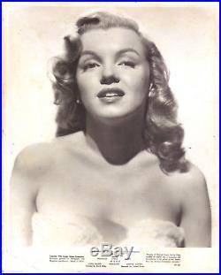 Marilyn Monroe Love Happy Original Vintage Studio Photo. 1948