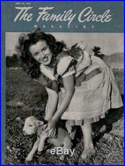 Marilyn Monroe Press Photo 1946 Family Circle Andre de Dienes Date Stamp VTG COA