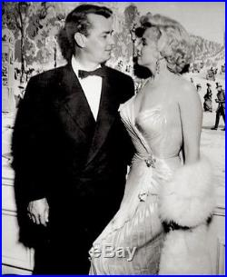 Marilyn Monroe Press Photo 1954 Alan Ladd Hollywood Awards Date Stamp Snipe VTG