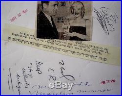 Marilyn Monroe Press Photo 1955 Arthritis Benefit Date Stamp Snipe Original VTG