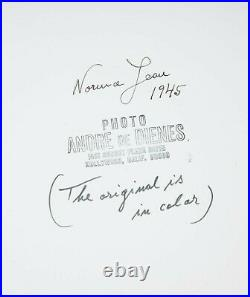 Marilyn Monroe SIGNED Andre de Dienes Vintage Original Pin-Up Photo Stamped