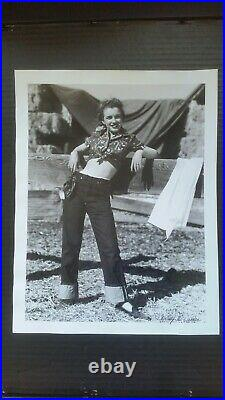 Marilyn Monroe SIGNED Vintage Large Andre de Dienes Pin-Up Original Photo