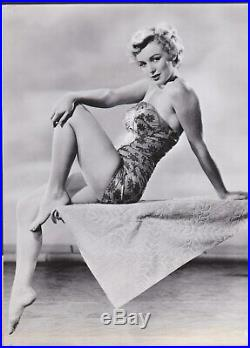 Marilyn Monroe Superb Vintage Original 1950 Rko Photograph Sexy Pose Swimsuit